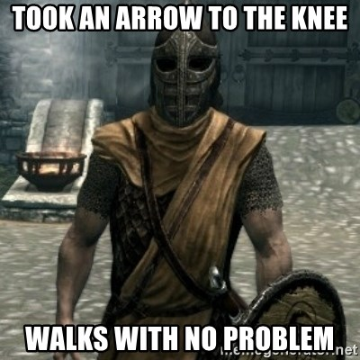 skyrim whiterun guard - Took an arrow to the knee Walks with no problem