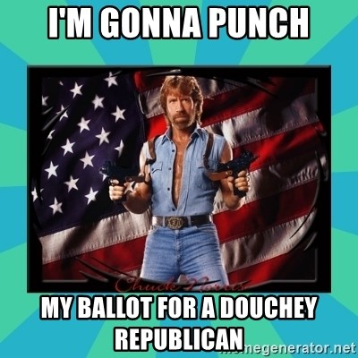 No Respect Norris - I'm gonna punch My ballot for a douchey republican