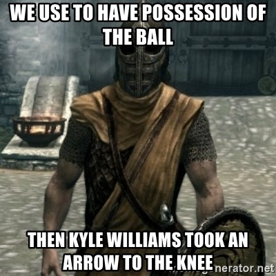 skyrim whiterun guard - we use to have possession of the ball then kyle williams took an arrow to the knee
