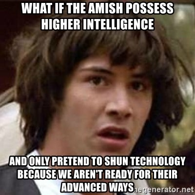 13540647 what if the amish possess higher intelligence and only pretend to