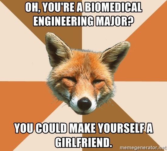 Condescending Fox - Oh, you're a biomedical engineering major? you could make yourself a girlfriend.