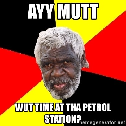 Abo - ayy mutt wUt time at tHa peTrol station?