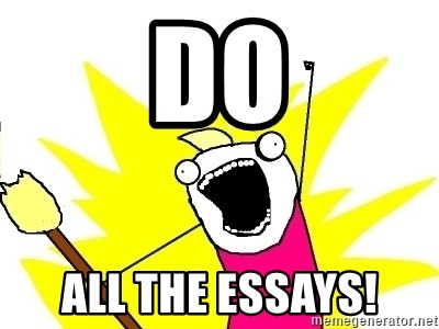 X ALL THE THINGS - DO ALL THE ESSAYS!