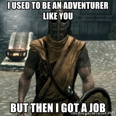 skyrim whiterun guard - I used to be an adventurer like you But then I got a Job