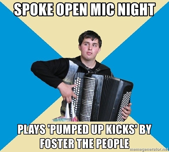 X The Musical Student X - SPOKE OPEN MIC NIGHT PLAYS 'PUMPED UP KICKS' BY FOSTER THE PEOPLE
