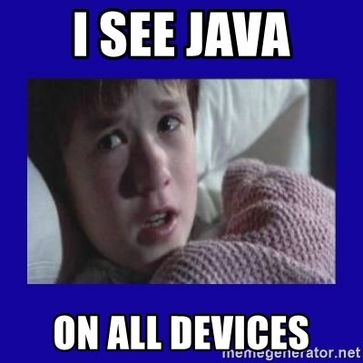 Sexto Sentido - i see java on all devices