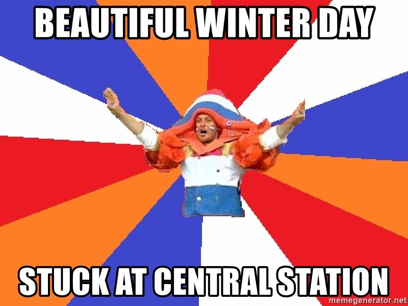 dutchproblems.tumblr.com - beautiful winter day stuck at central station