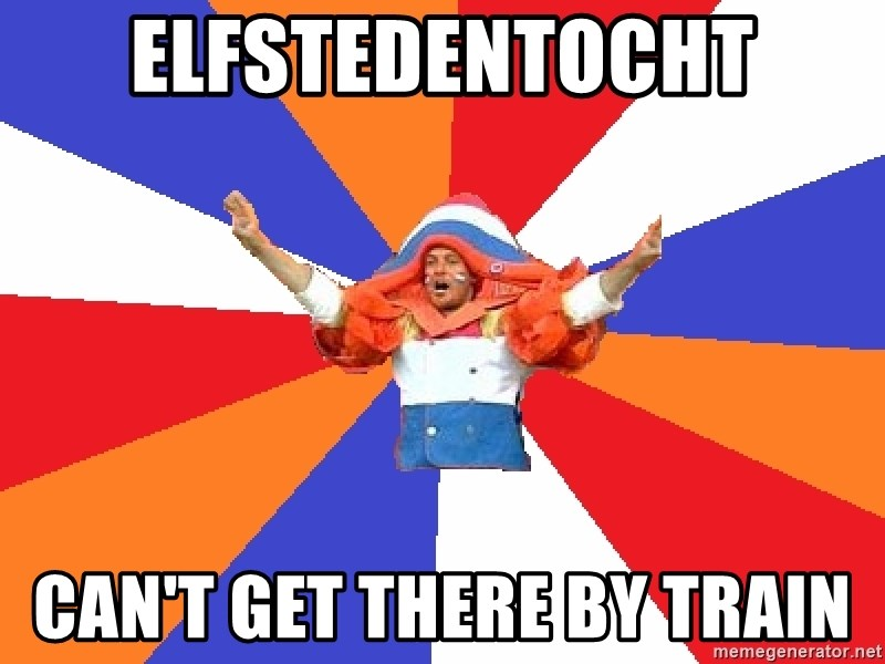 dutchproblems.tumblr.com - Elfstedentocht Can't get there by train