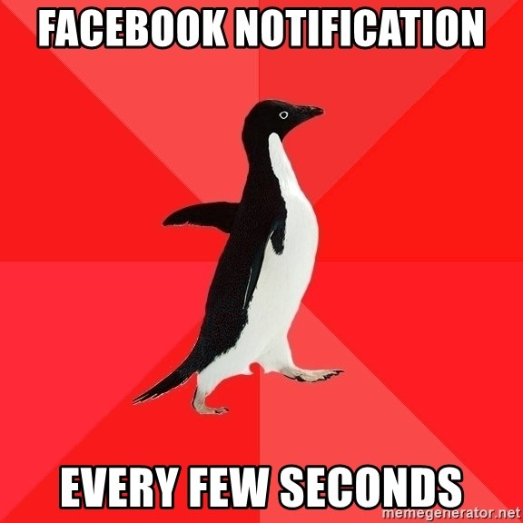 Socially Awesome Penguin - Facebook notification every few seconds