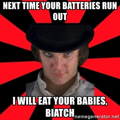 Cynical animeshniki - next time your batteries run out i will eat your babies, biatch