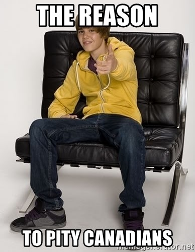 Justin Bieber Pointing - The REason to pity canadians