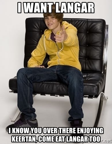 Justin Bieber Pointing - i want langar i know you over there enjoying keertan, come eat langar too