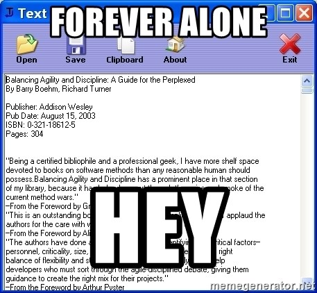 Text - FOREVER ALONE HEY