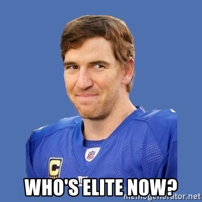 Eli troll manning - who's elite now?