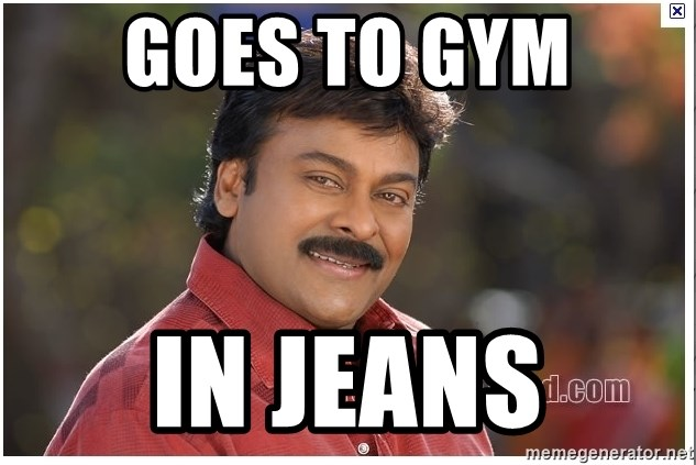 Typical Indian guy - Goes to Gym In Jeans