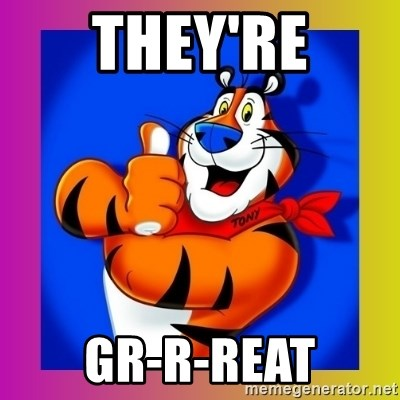 Tony The Tiger - They're GR-R-reat