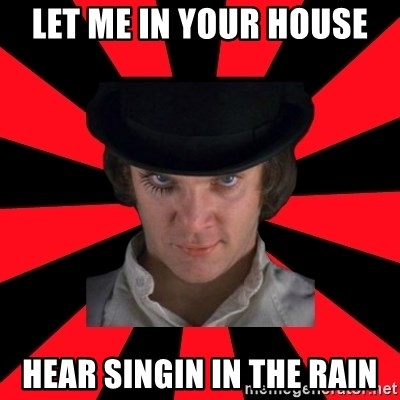 Cynical animeshniki - let me in your house hear singin in the rain