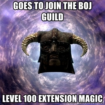 Skyrim - Goes to join the BoJ guild Level 100 Extension magic