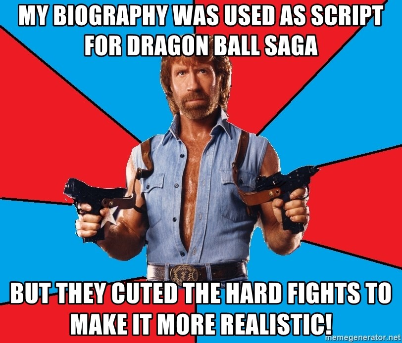 My biography was used as script for dragon ball saga But