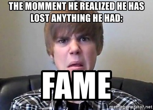 Justin Bieber 213 - the momment he realized he has lost anything he had: fame