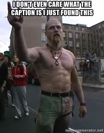 Techno Viking - I don't even care what the caption is i just found this