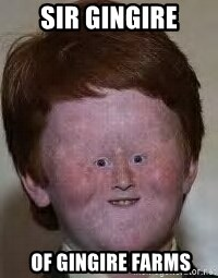 Generic Ugly Ginger Kid - sir gingire  OF GINGIRE FARMS