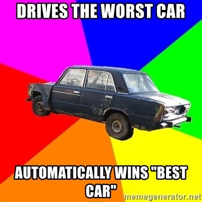 "AdviceCar - Drives the worst car Automatically wins ""best Car"""