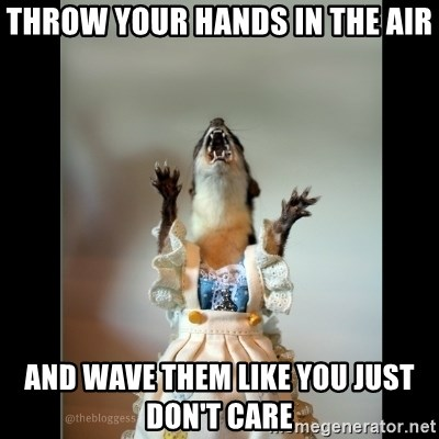 Juanita Weasel - throw your hands in the air and wave them like you just don't care