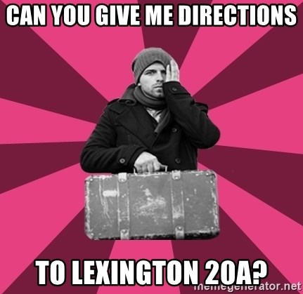 potential emigrant - can you give me directions to lexington 20a?