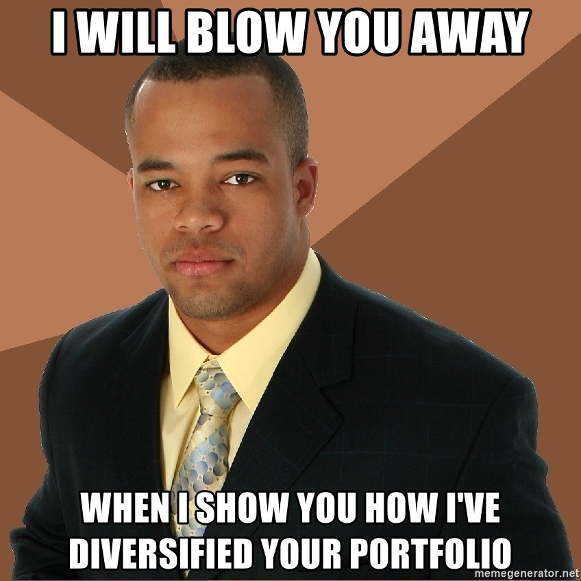 Successful Black Man - i will blow you away when i show you how I've diversified your portfolio