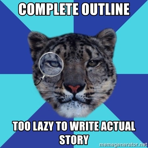 Writer Leopard - Complete outline TOO lazy to write actual story