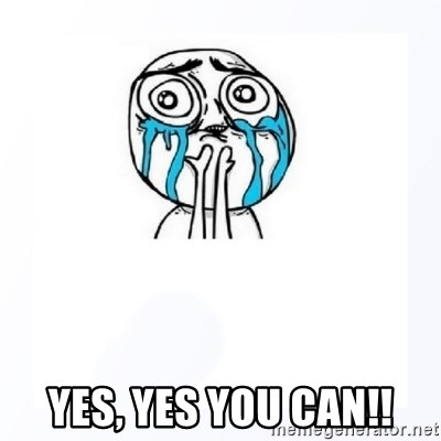 YES YOU CAN - YES, YES YOU CAN!!