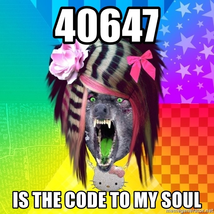 Insanity Scene Wolf - 40647 is the code to my soul
