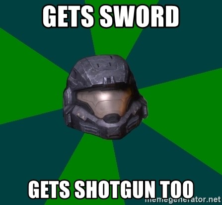 Halo Reach - gets sword gets shotgun too