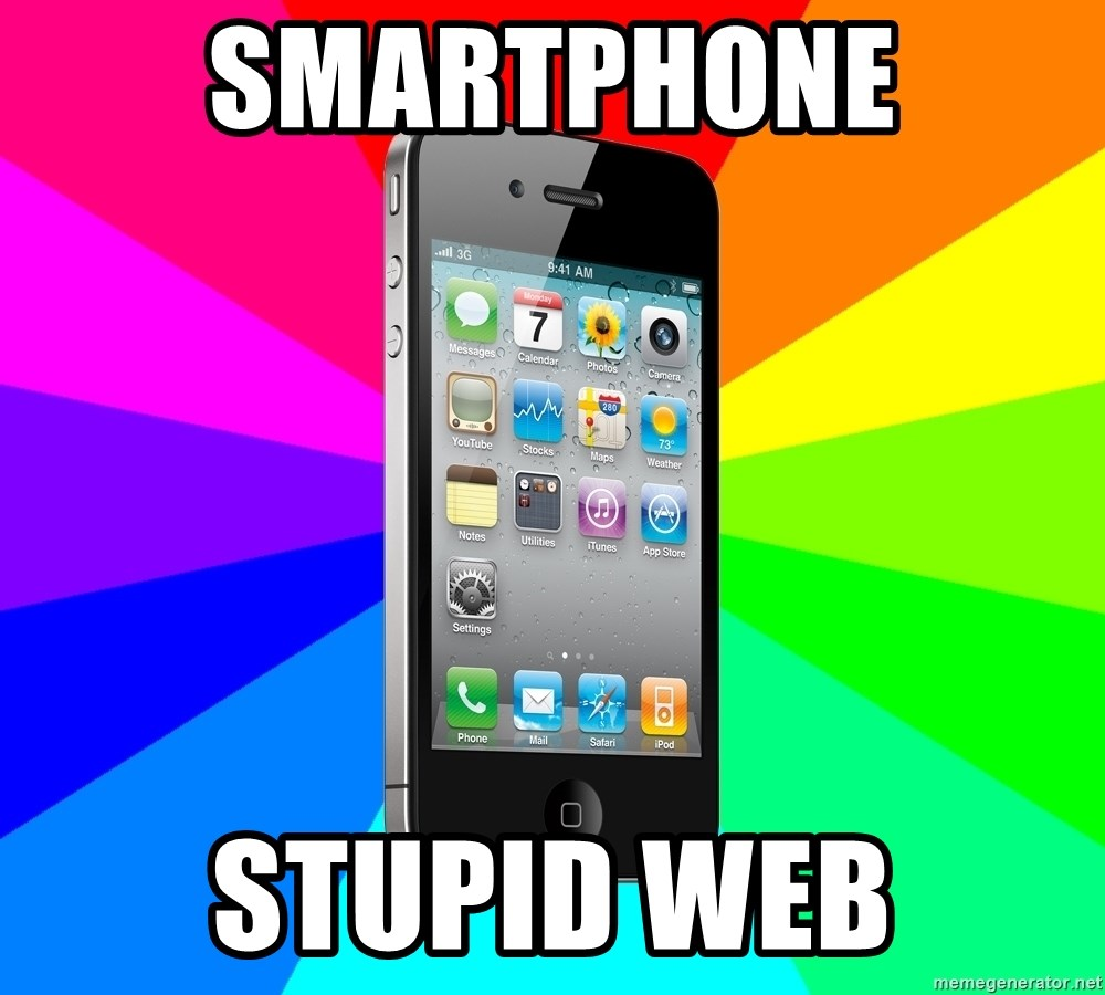 TYPICAL IPHONE - smartphone stupid web