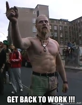 Techno Viking - Get Back To work !!!