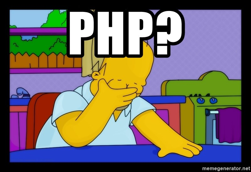 Homer Facepalm - PHP?