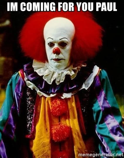 it clown stephen king - im coming for you paul