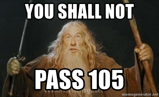 You shall not pass - you shall not pass 105