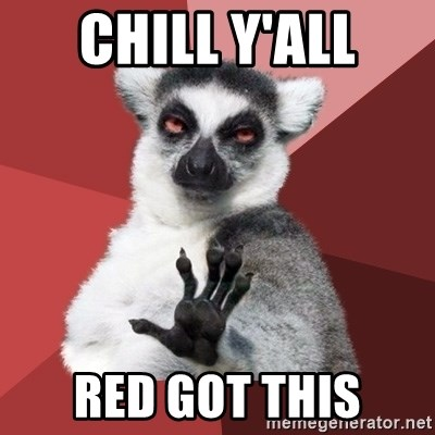 Chill Out Lemur - Chill Y'all red got this