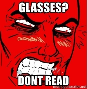 Rage Face - Glasses? dont read