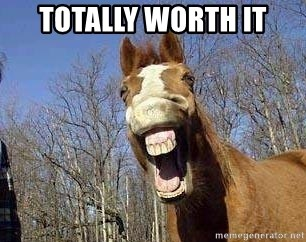 Horse - totally worth it