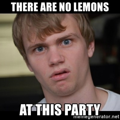 Conspiracy Manke - there are no lemons at this party