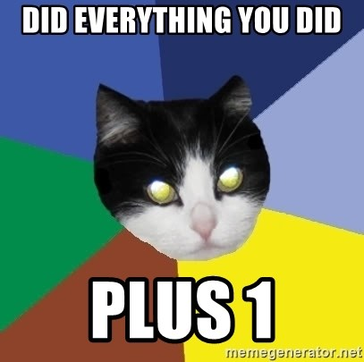Winnipeg Cat - did everything you did plus 1