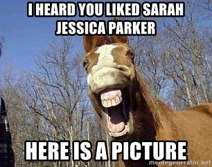 Horse - I heard you liked Sarah jessica parker here is a picture
