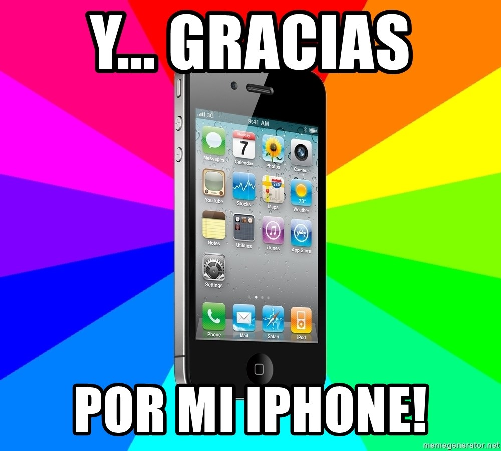 TYPICAL IPHONE - y... gracias por mi iphone!