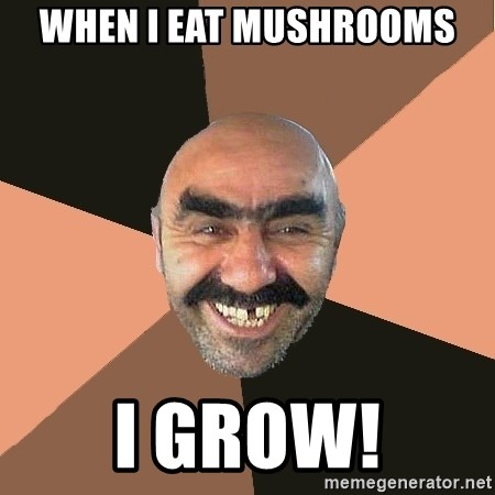 Provincial Man - WHEN I EAT MUSHROOMS I GROW!
