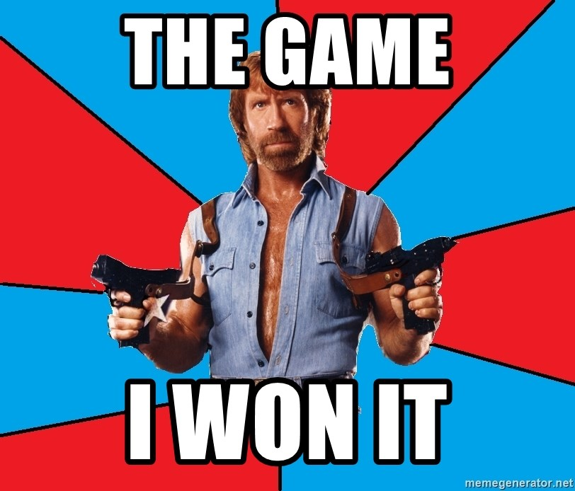 Chuck Norris  - the game i won it