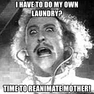 Frankenstein  - I have to do my own laundry? Time to reanimate mother!