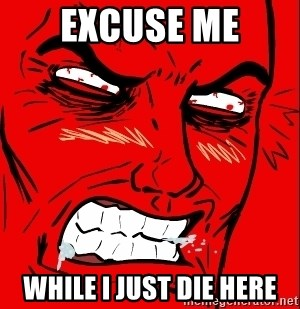 Rage Face - Excuse me While I just Die here